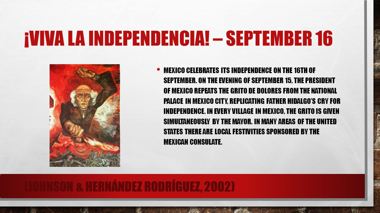 ¡Viva la Independencia! – September 16