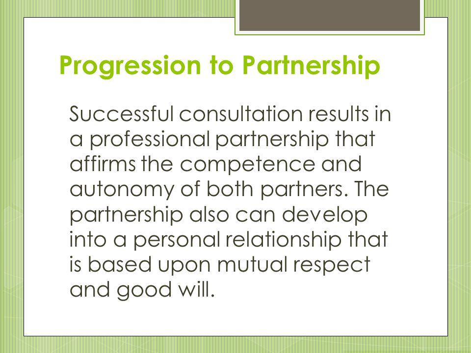 Progression to Partnership