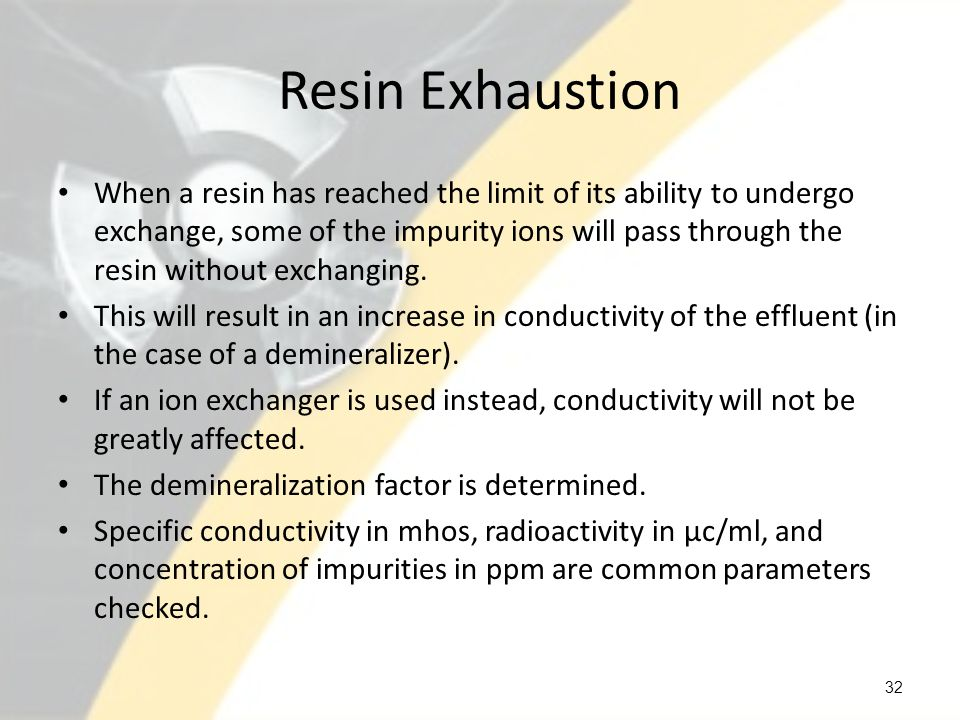 Resin Exhaustion