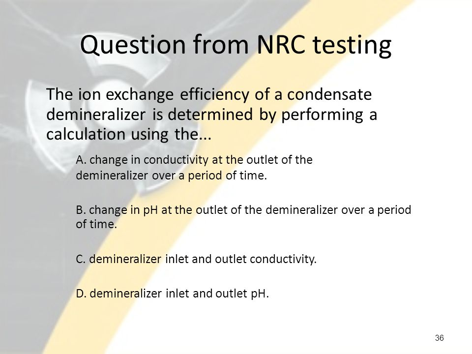 Question from NRC testing
