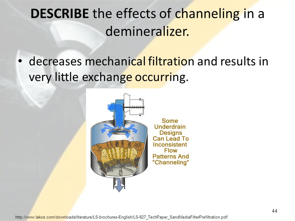 DESCRIBE the effects of channeling in a demineralizer.