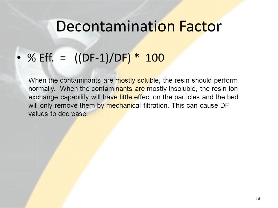 Decontamination Factor
