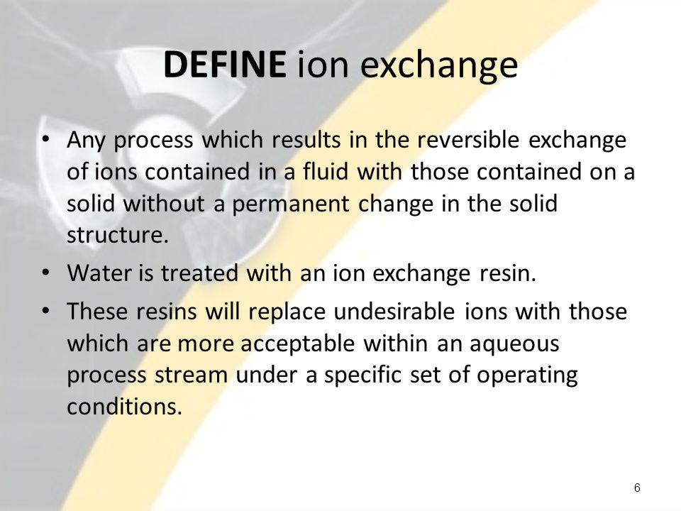 DEFINE ion exchange