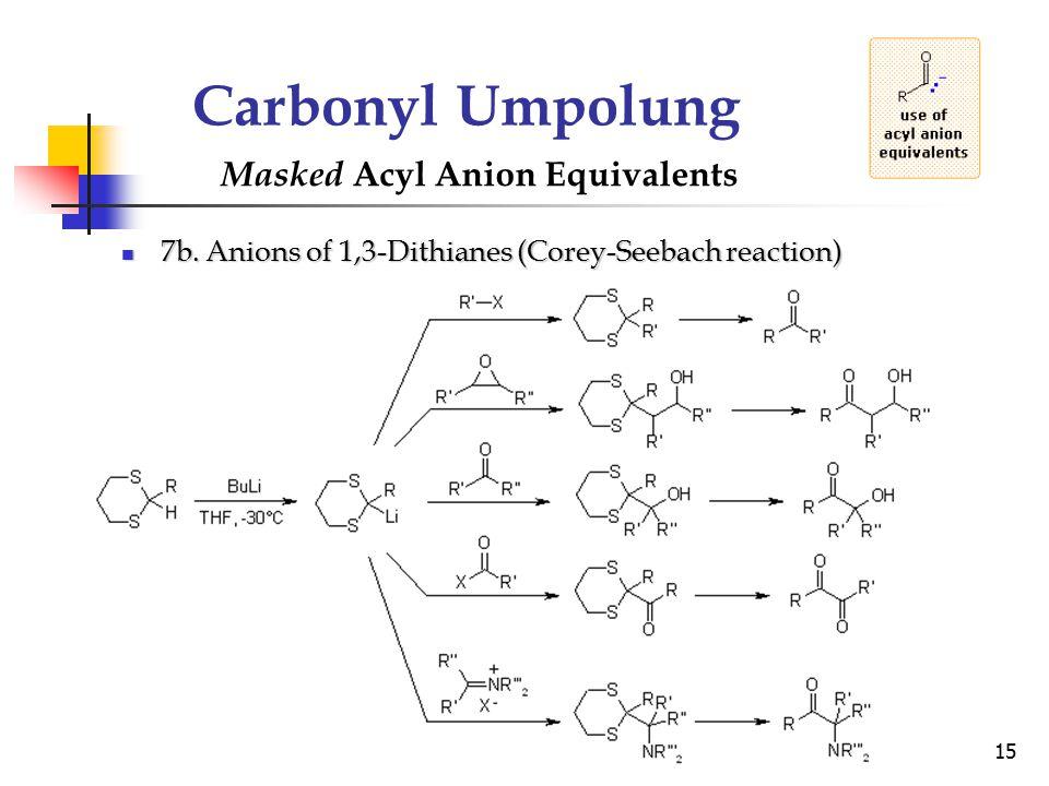 Carbonyl Umpolung Masked Acyl Anion Equivalents