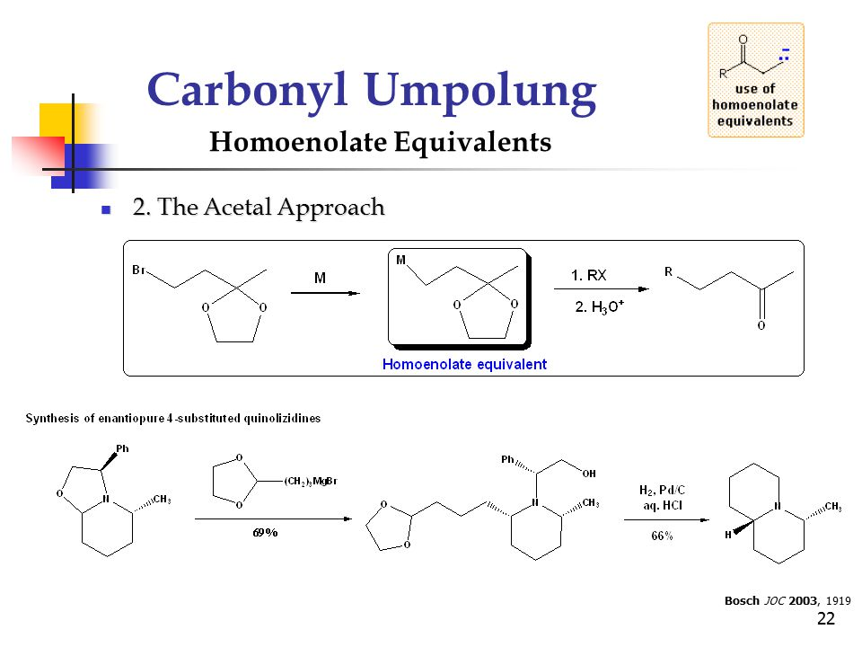 Carbonyl Umpolung Homoenolate Equivalents 2. The Acetal Approach
