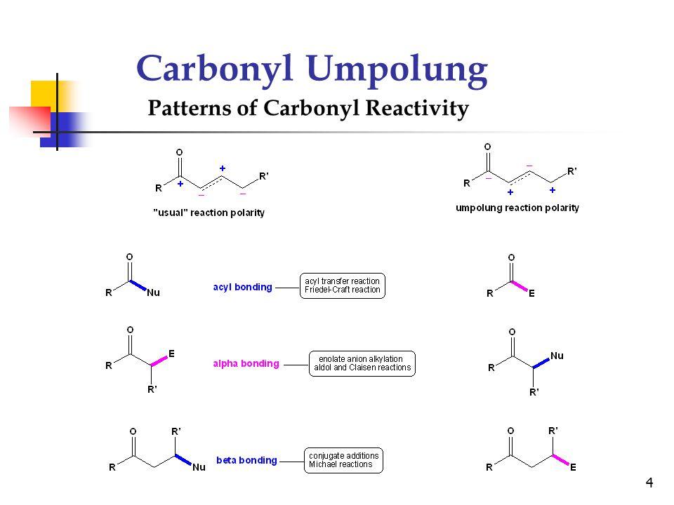 Carbonyl Umpolung Patterns of Carbonyl Reactivity