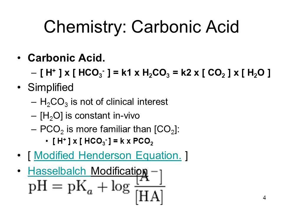 Chemistry: Carbonic Acid