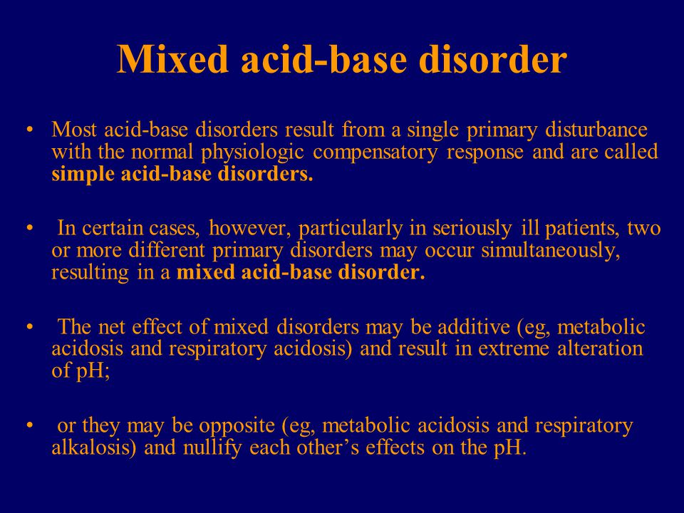 Mixed acid-base disorder
