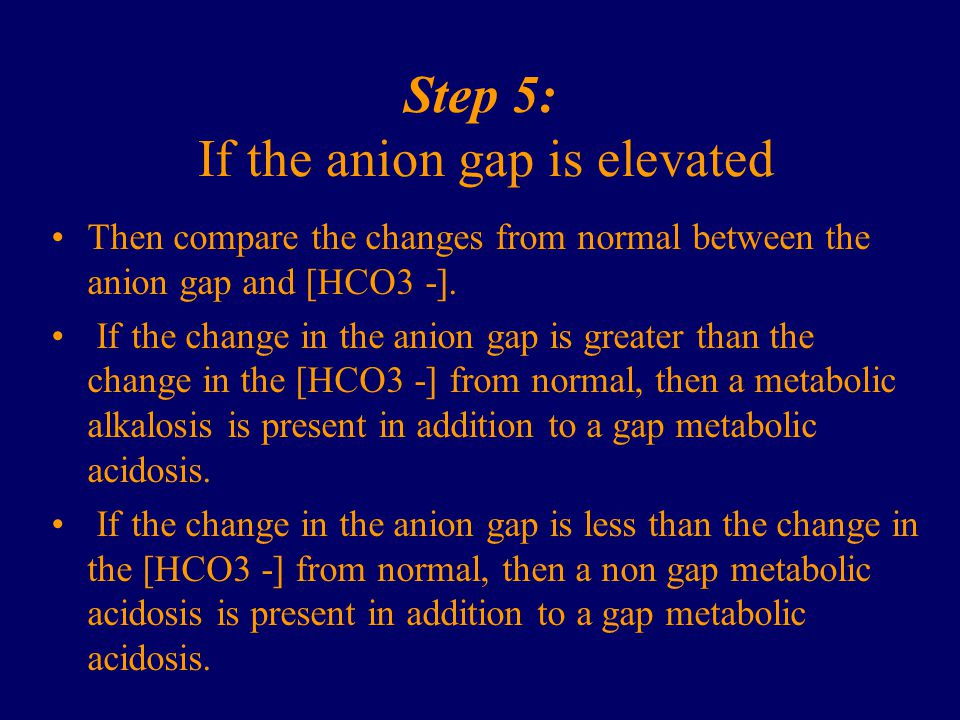 Step 5: If the anion gap is elevated