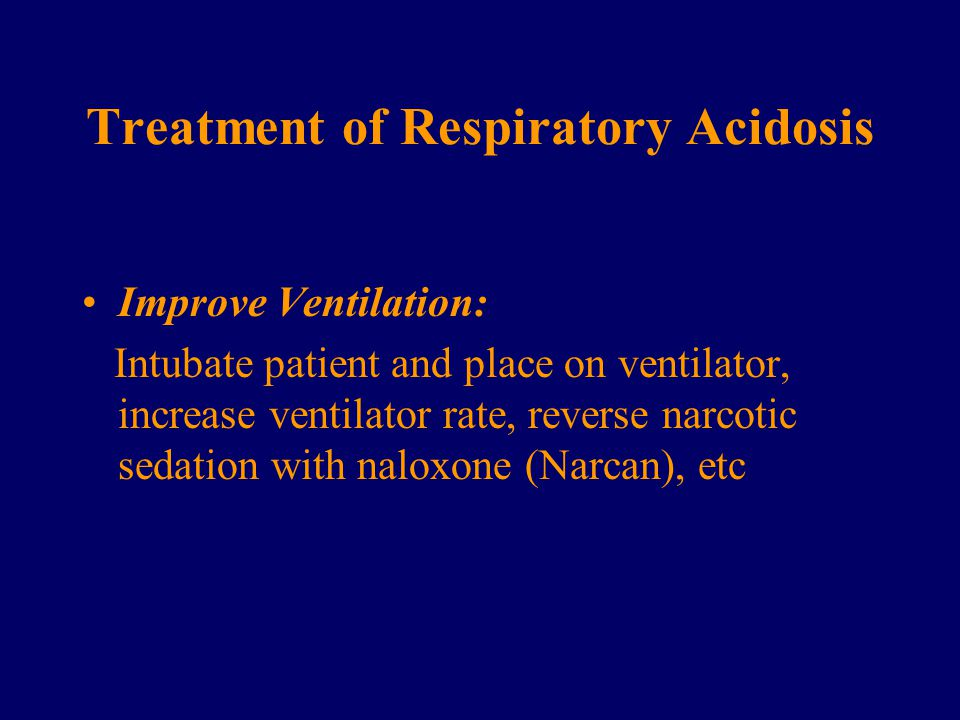 Treatment of Respiratory Acidosis