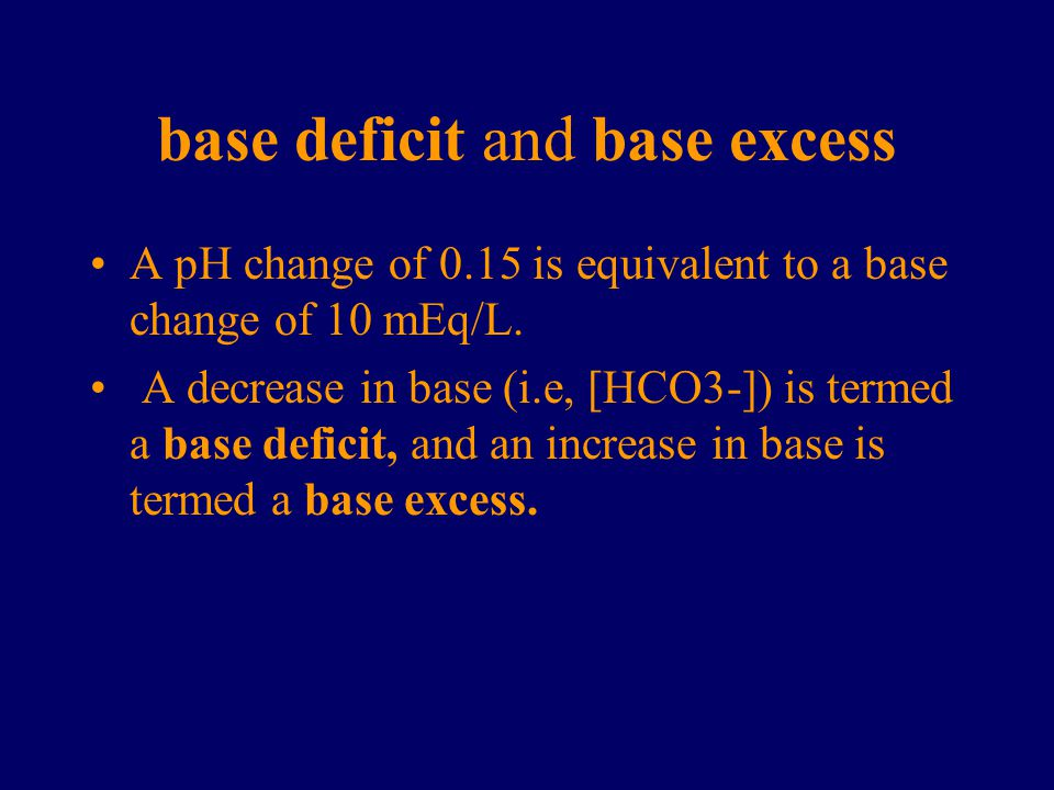 base deficit and base excess