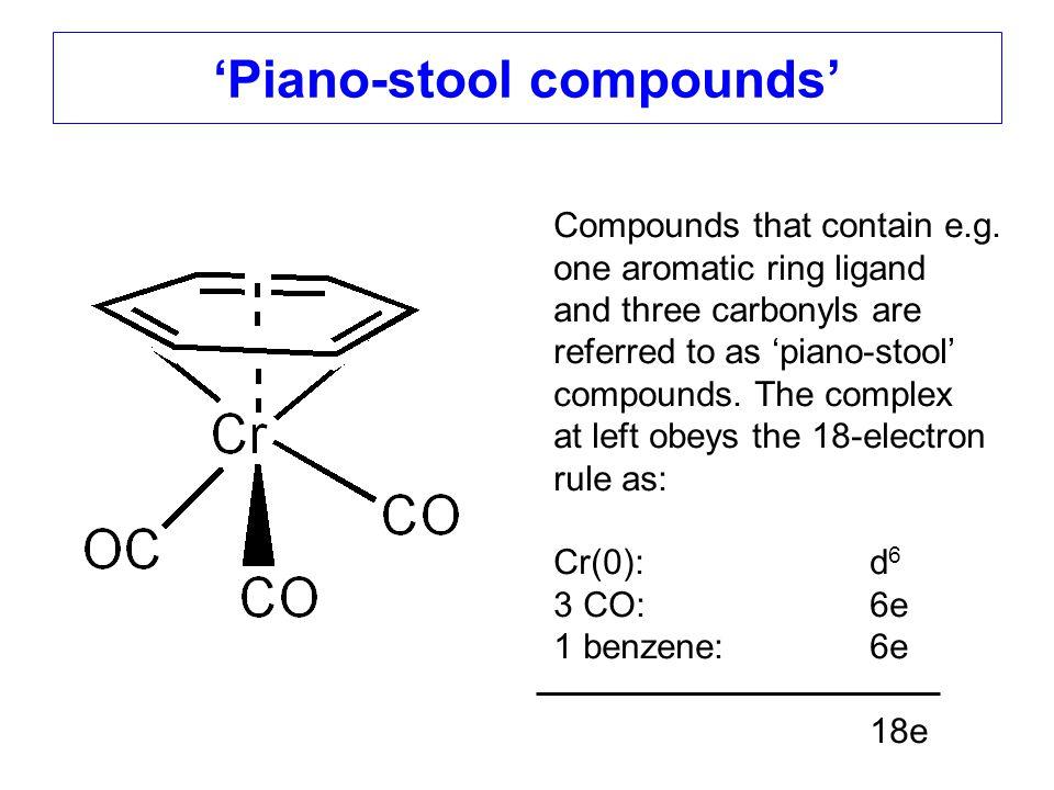 'Piano-stool compounds'
