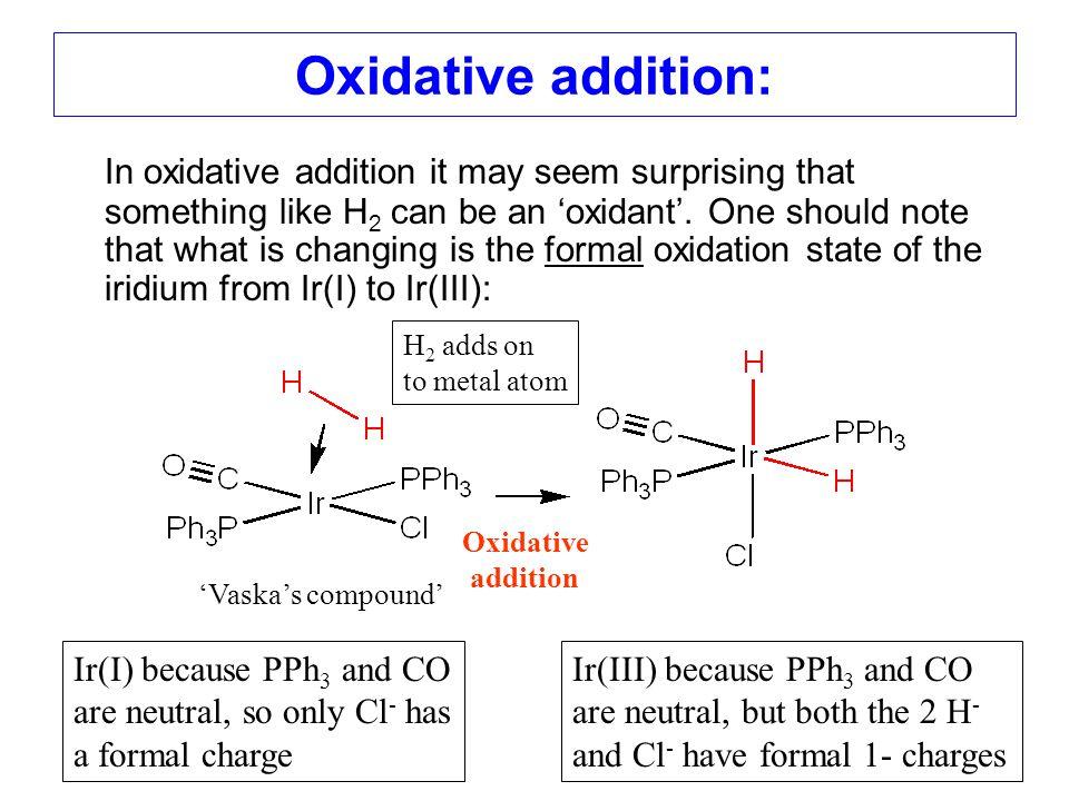 Oxidative addition:
