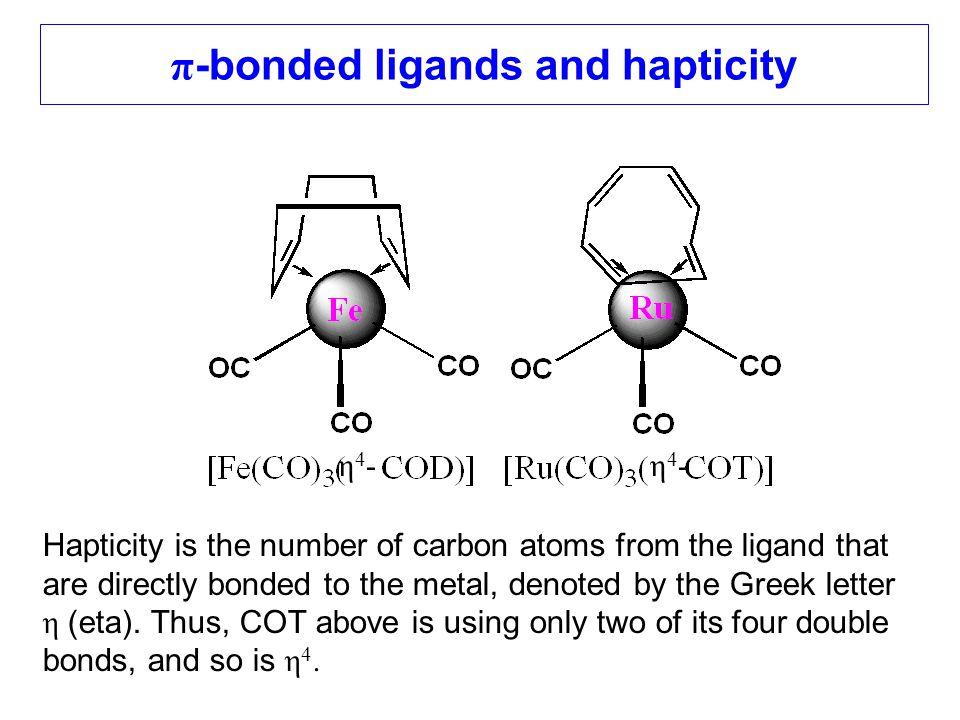 π-bonded ligands and hapticity