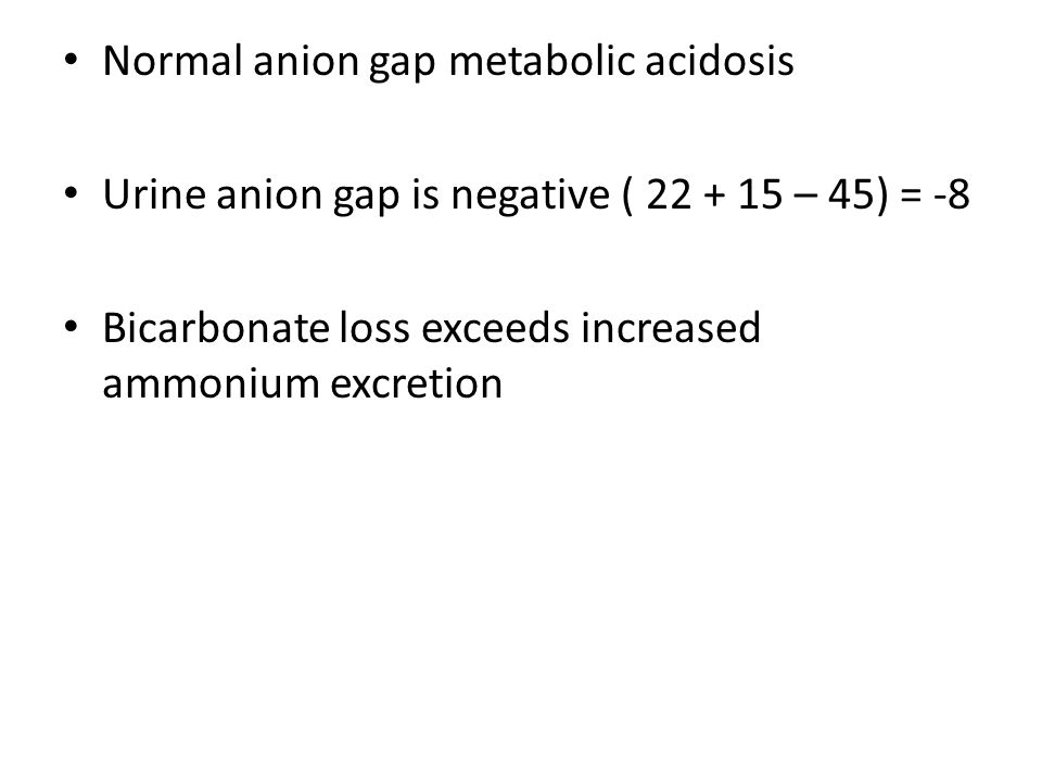 Normal anion gap metabolic acidosis