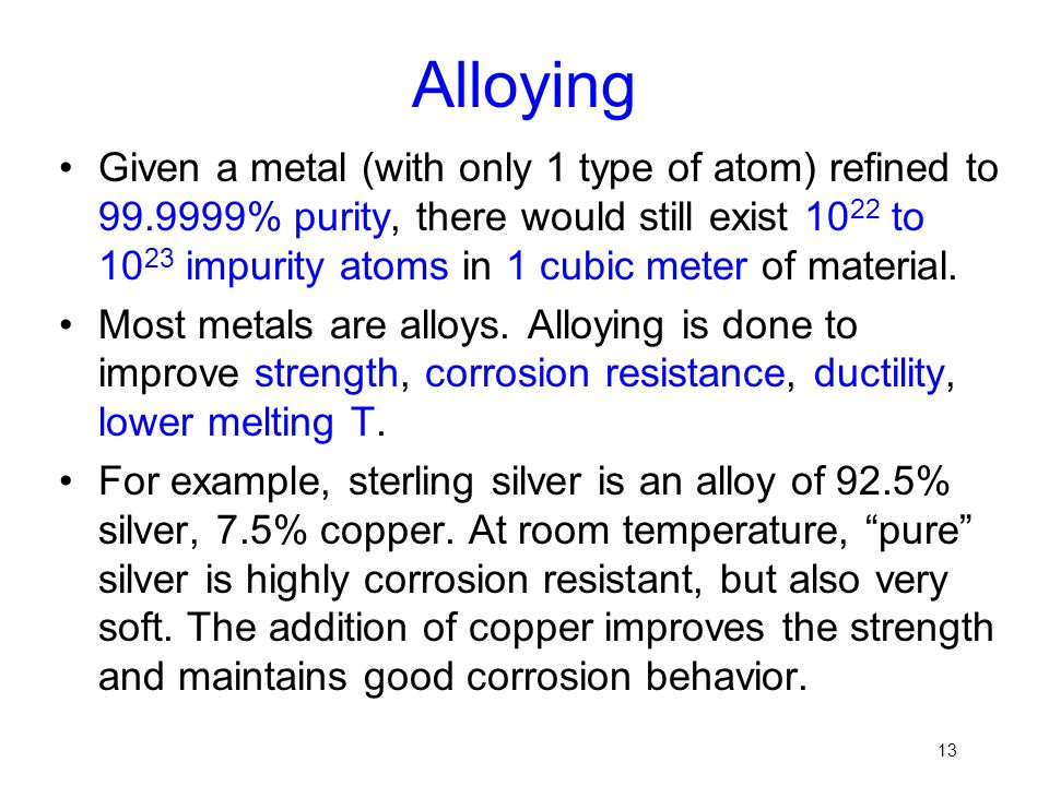 Alloying
