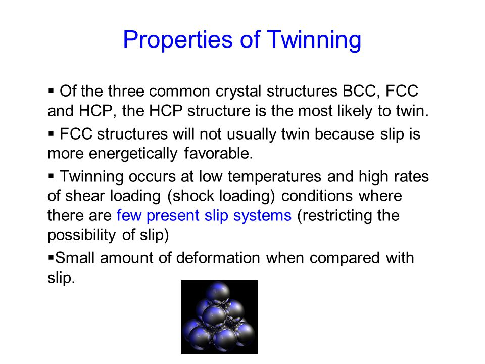 Properties of Twinning