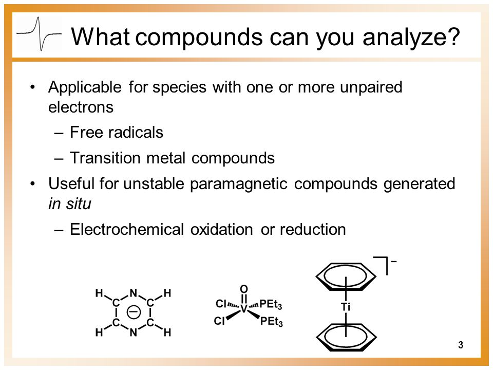 What compounds can you analyze