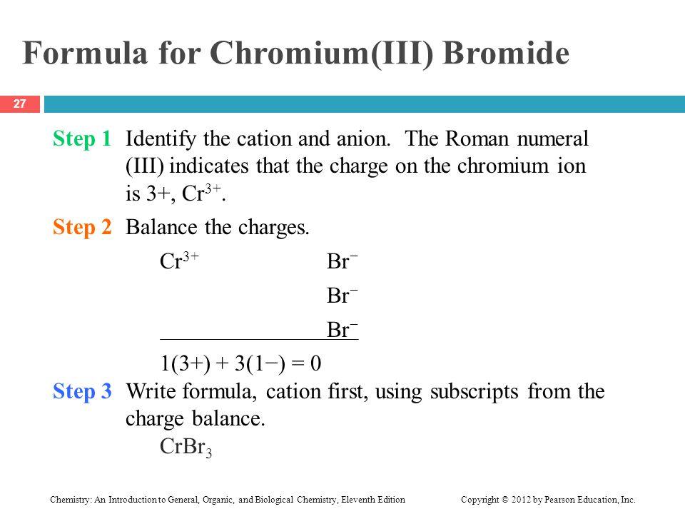 Formula for Chromium(III) Bromide