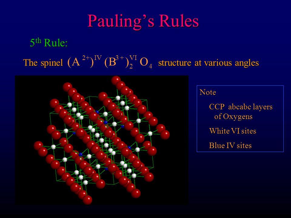 Pauling's Rules ( ) A B O 5th Rule: