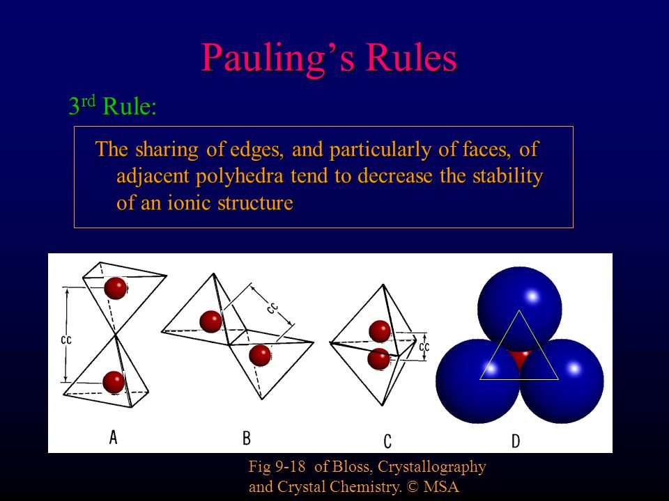 Pauling's Rules 3rd Rule:
