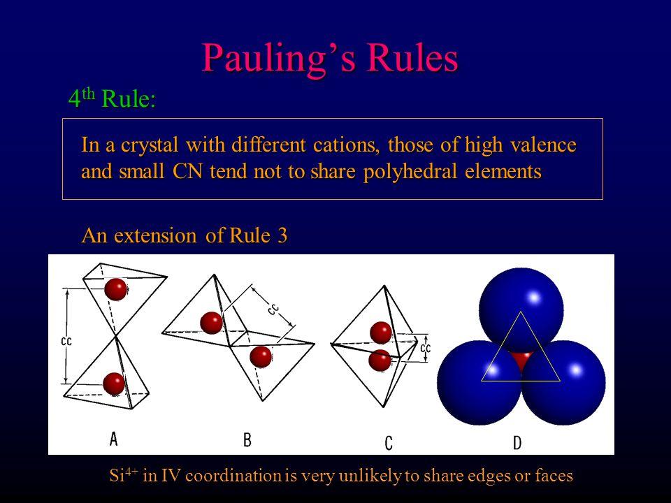 Pauling's Rules 4th Rule: