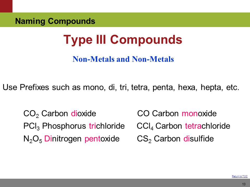 Non-Metals and Non-Metals