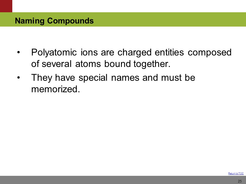 Polyatomic ions are charged entities composed of several atoms bound together.