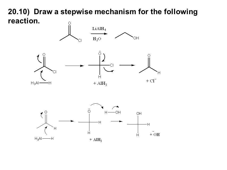 20.10) Draw a stepwise mechanism for the following reaction.