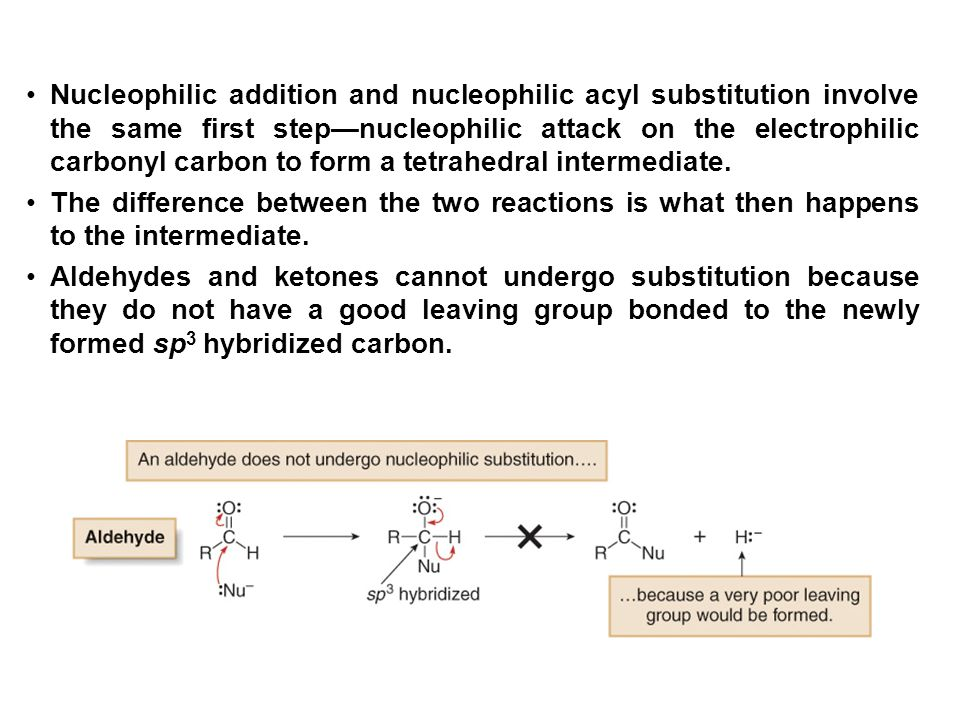Nucleophilic addition and nucleophilic acyl substitution involve the same first step—nucleophilic attack on the electrophilic carbonyl carbon to form a tetrahedral intermediate.