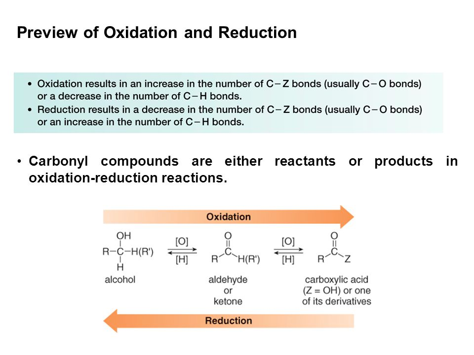 Preview of Oxidation and Reduction