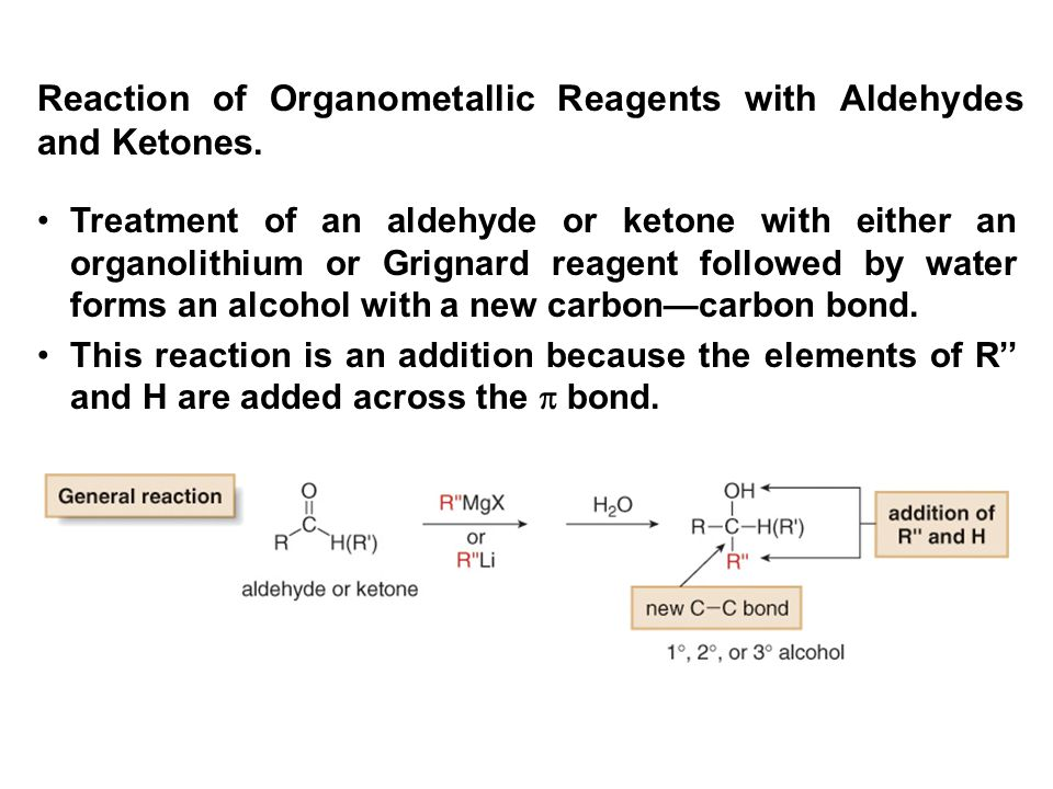 Reaction of Organometallic Reagents with Aldehydes and Ketones.