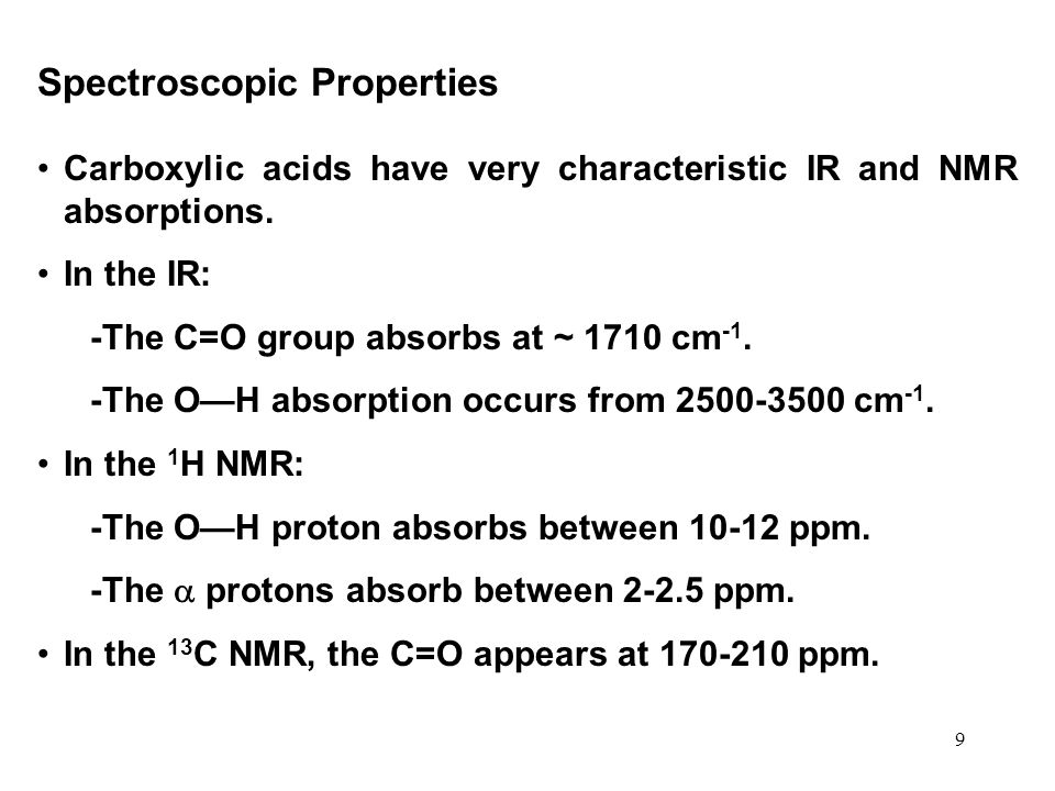 Spectroscopic Properties