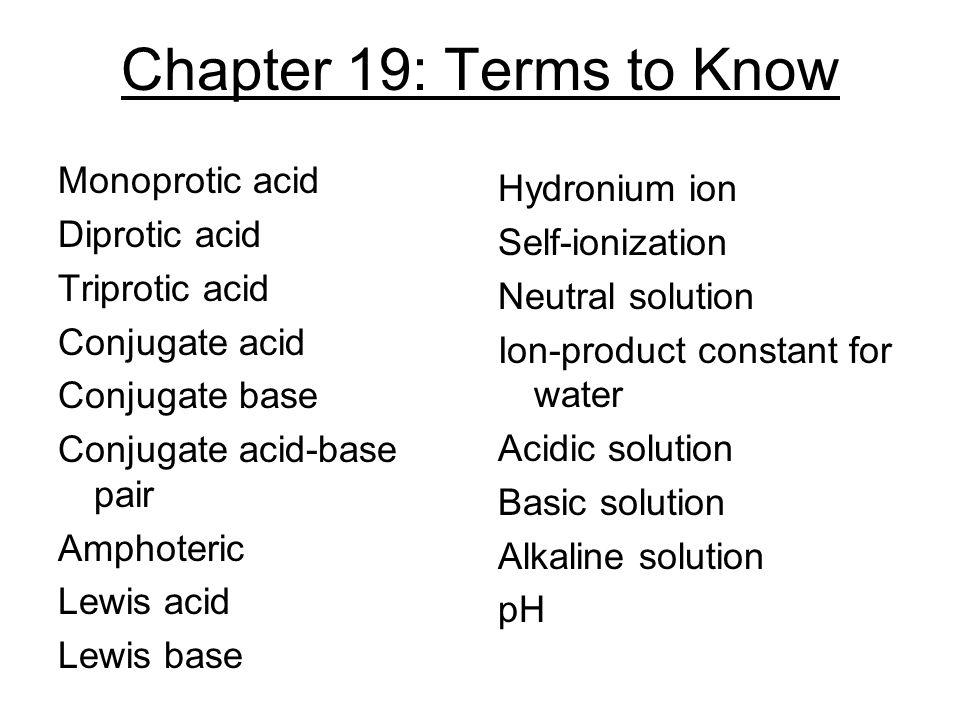 Chapter 19: Terms to Know