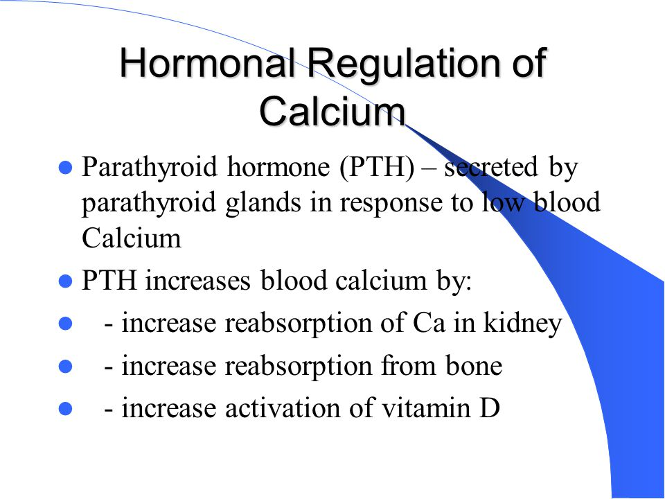 Hormonal Regulation of Calcium