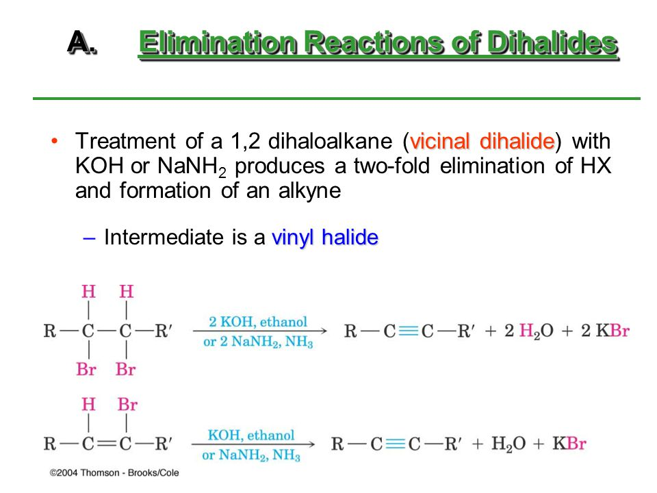 A. Elimination Reactions of Dihalides