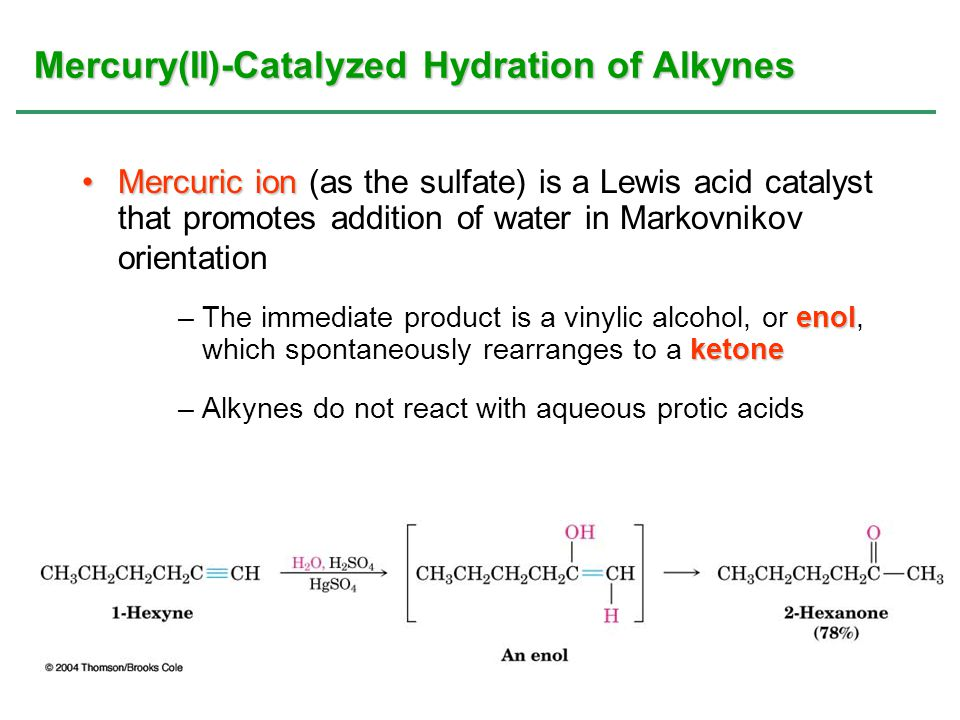 Mercury(II)-Catalyzed Hydration of Alkynes