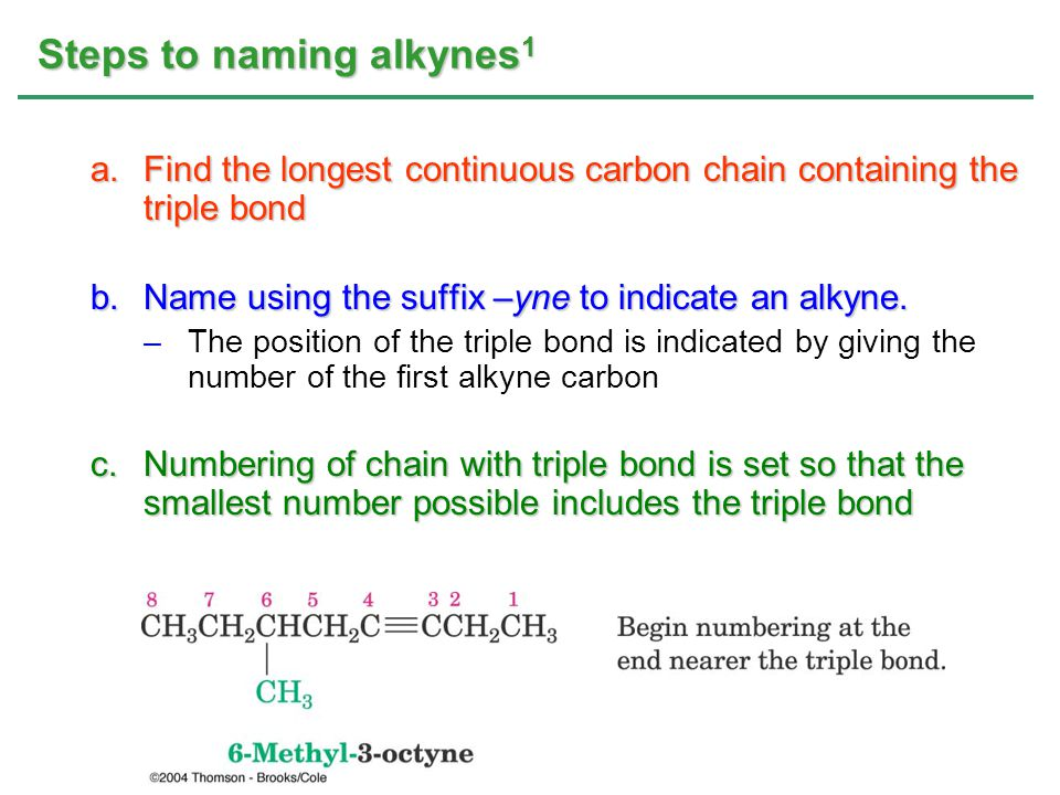 Steps to naming alkynes1