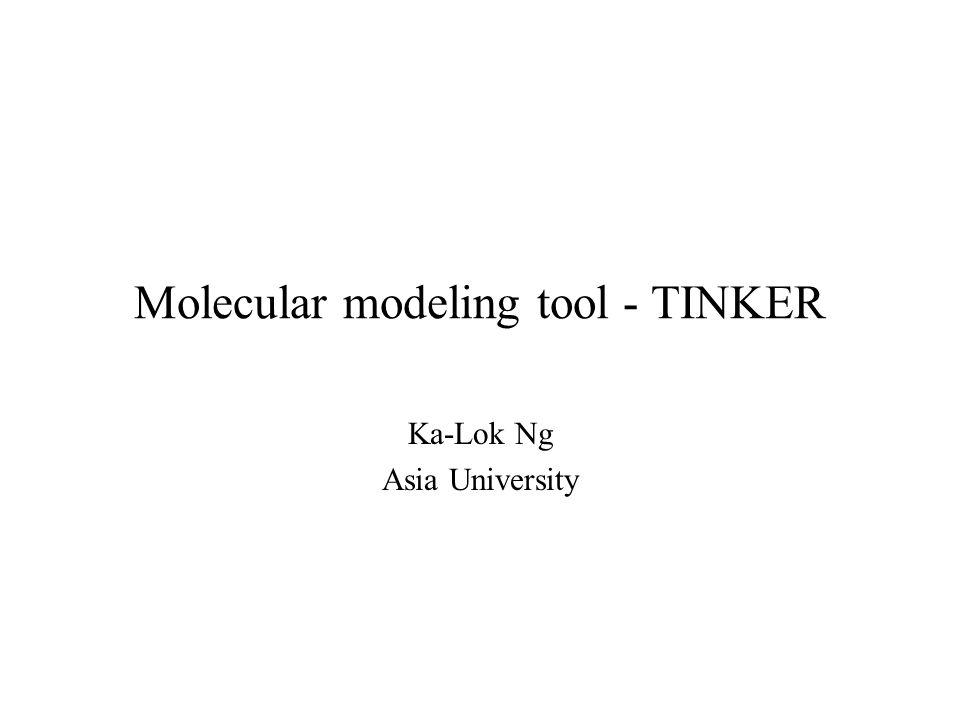 Molecular modeling tool - TINKER