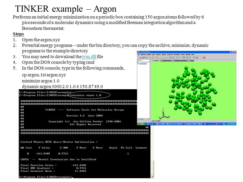 TINKER example – Argon cp argon.1st argon.xyz