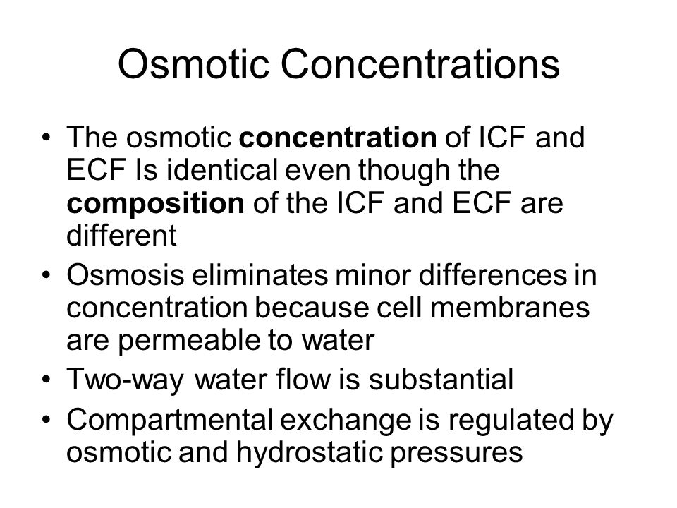 Osmotic Concentrations