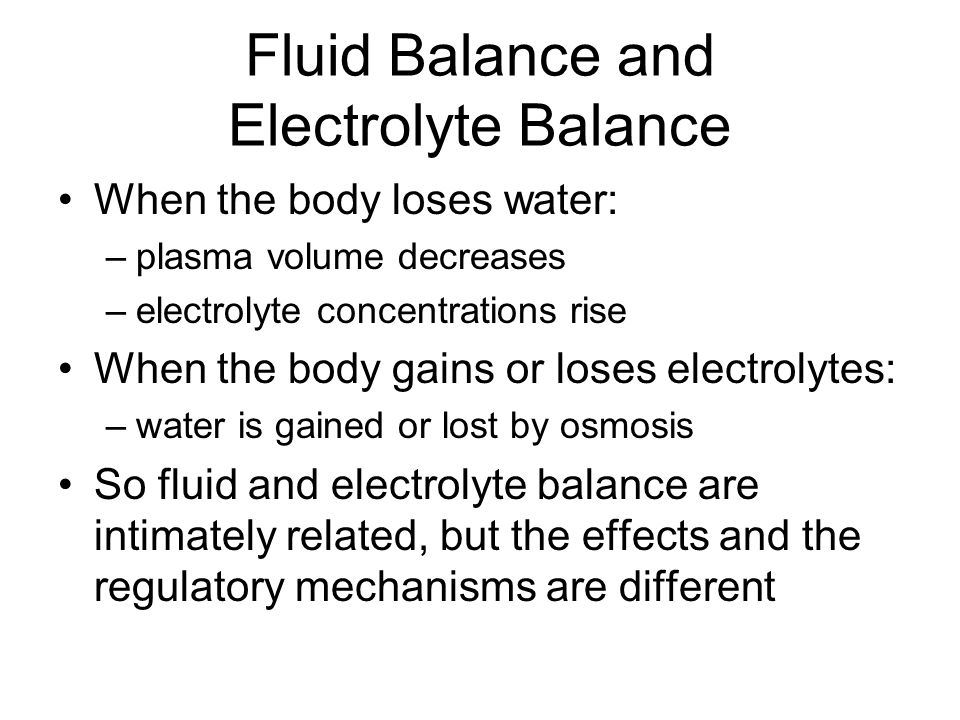 Fluid Balance and Electrolyte Balance