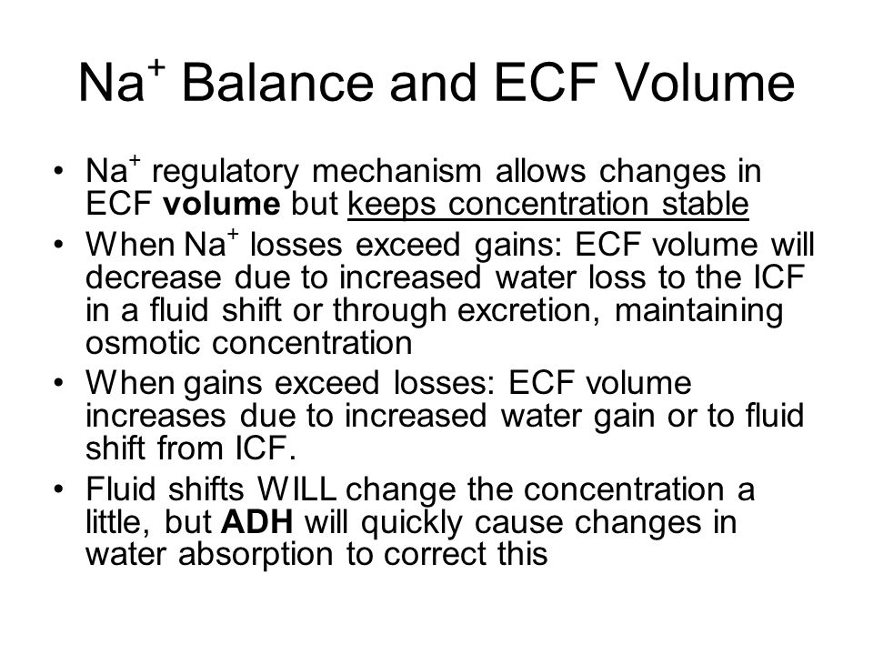 Na+ Balance and ECF Volume