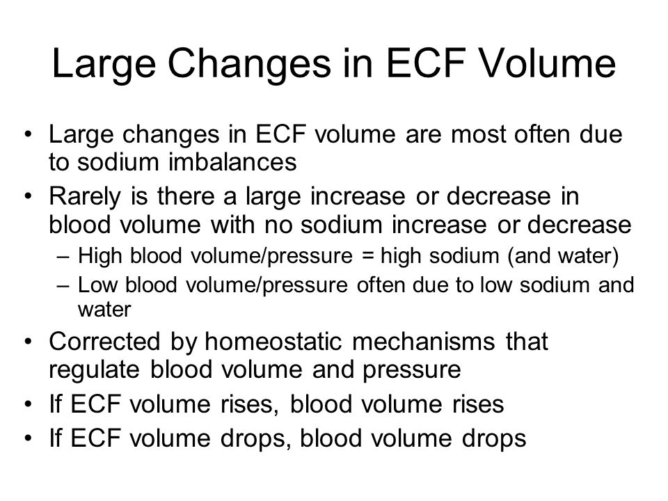Large Changes in ECF Volume