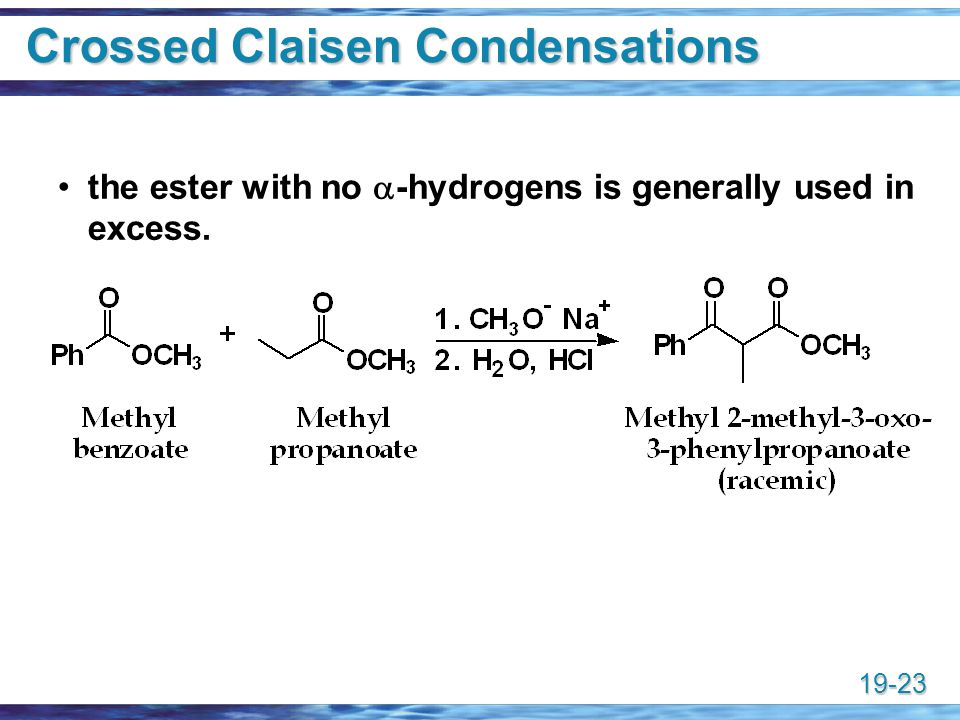 Crossed Claisen Condensations