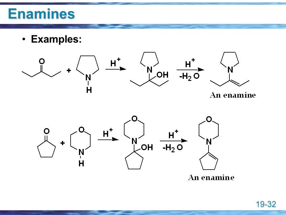 Enamines Examples: