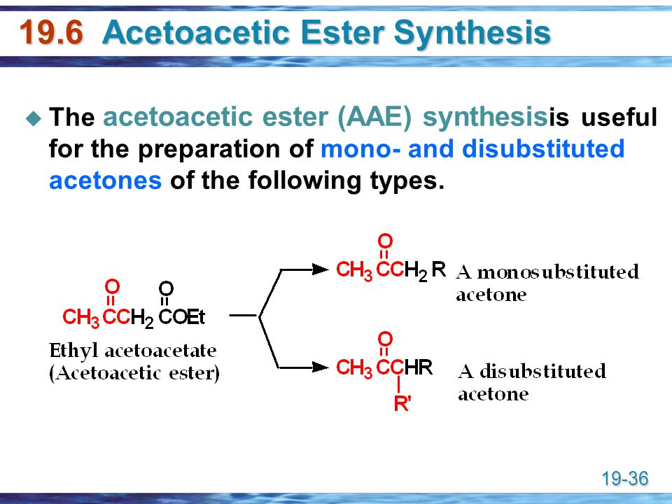 19.6 Acetoacetic Ester Synthesis