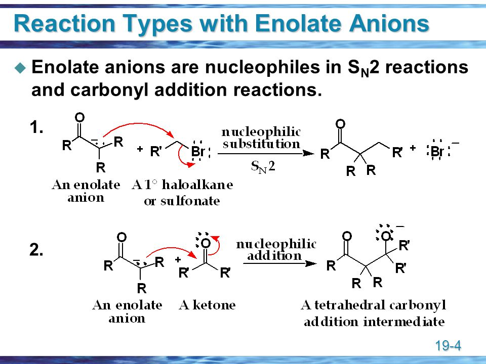 Reaction Types with Enolate Anions
