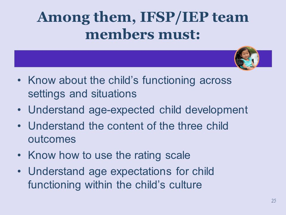 Among them, IFSP/IEP team members must: