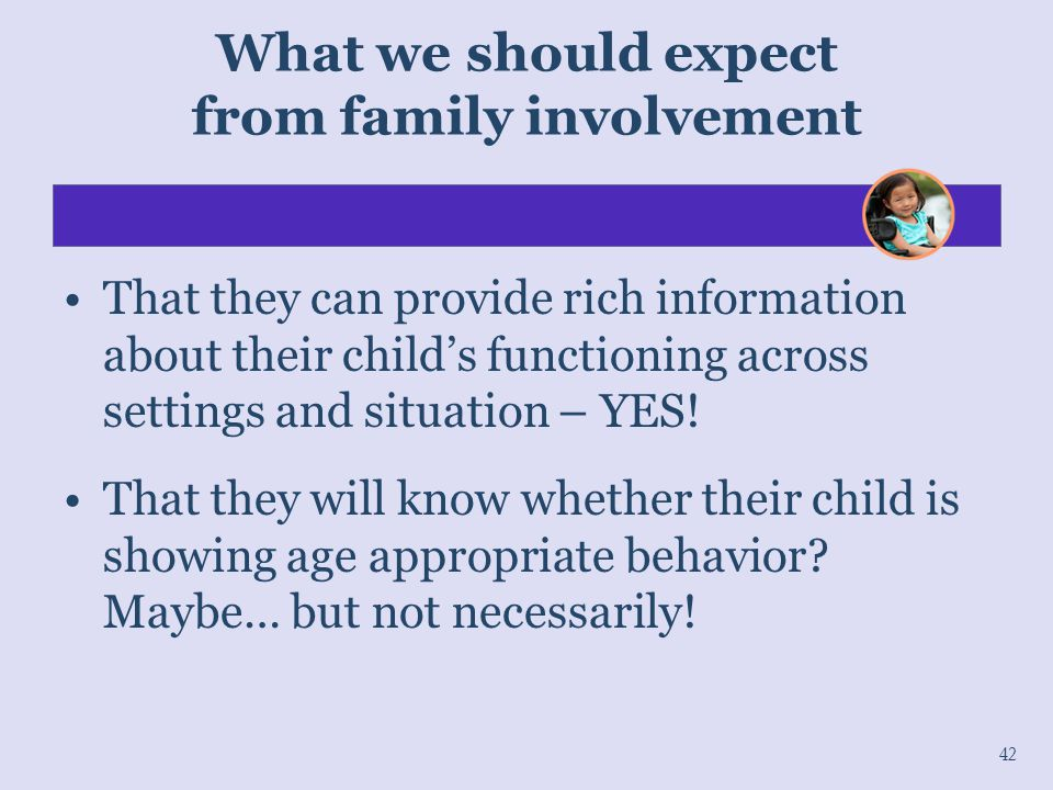 What we should expect from family involvement